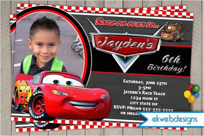 disney cars birthday invitation lightening mcqueen