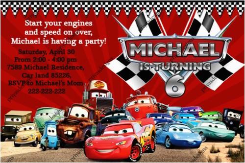 disney cars birthday invitations ideas bagvania free