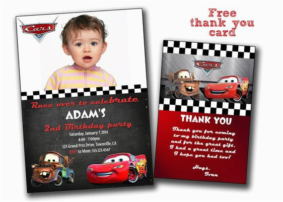 Disney Cars Personalized Birthday Invitations Invitation
