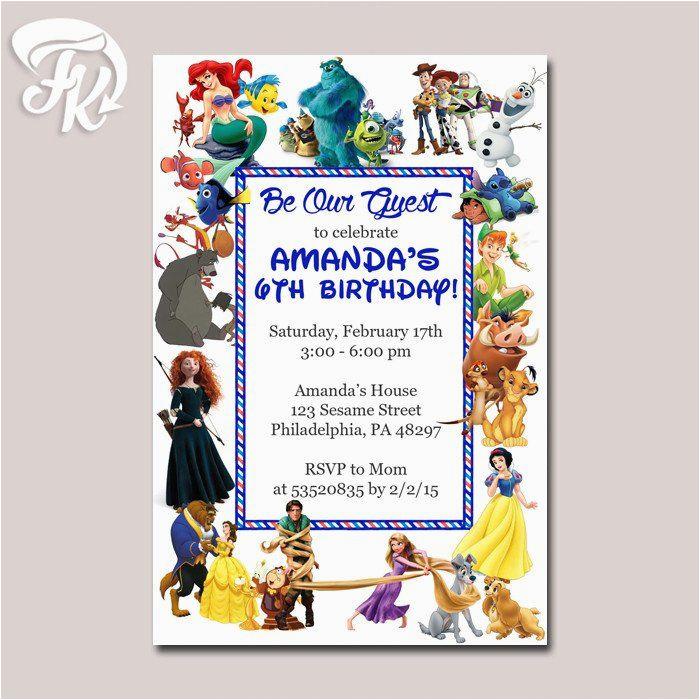 Disney Character Birthday Invitations 549 Best Birthday Invitation Card Images On Pinterest