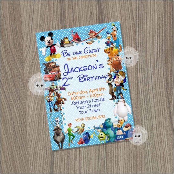 disney invitation disney boy invitation disney