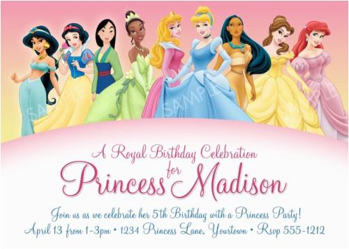 disney princess birthday invitations ideas