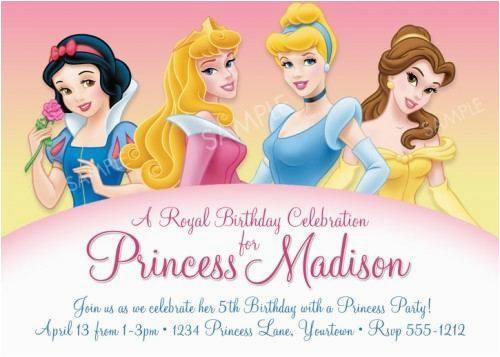 disney princess party invites