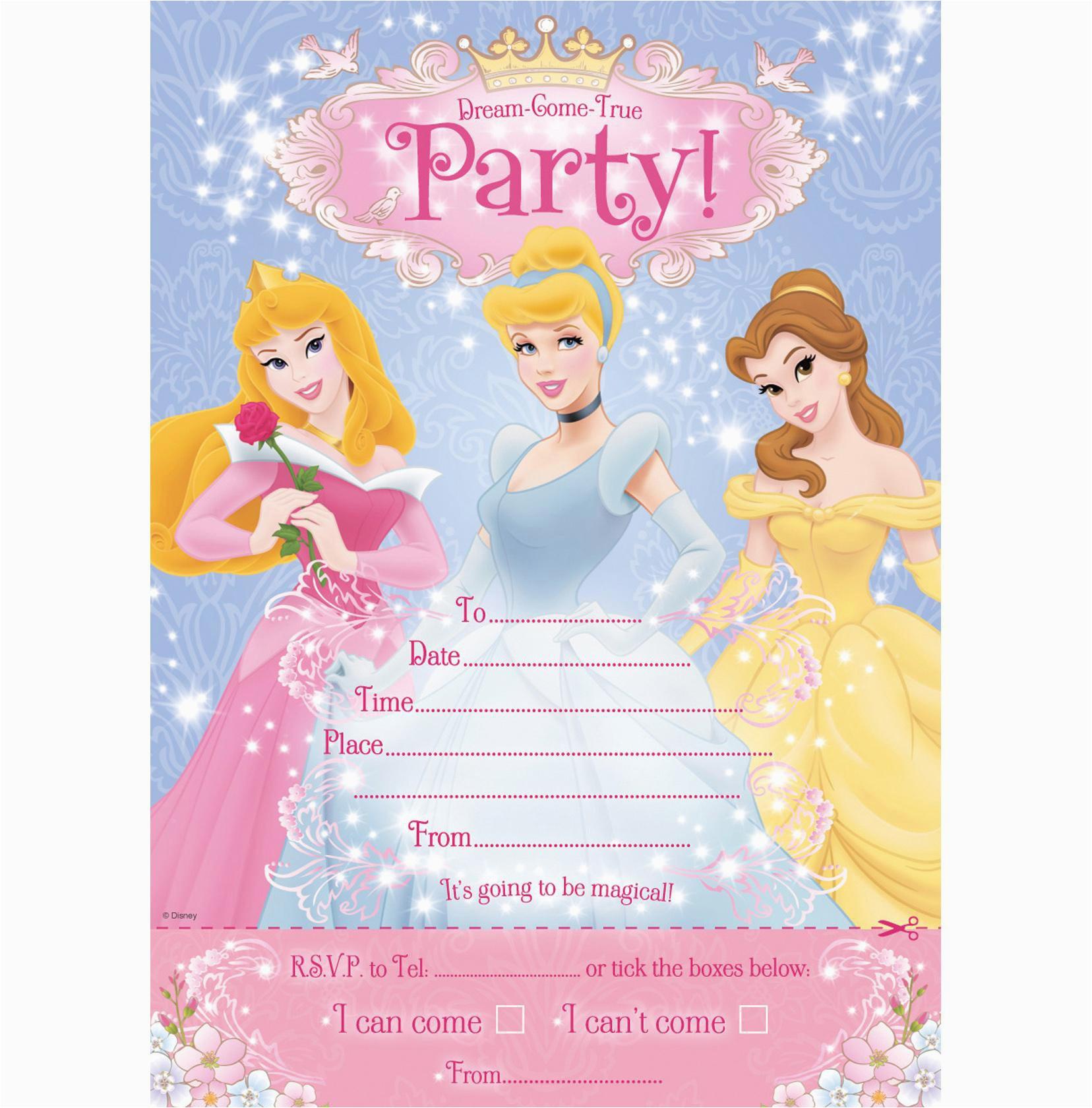 Disney Princess 1st Birthday Invitations Invitation Card First