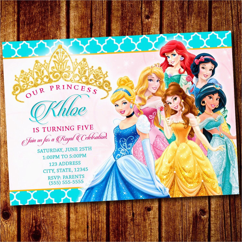 princess party princess invitation