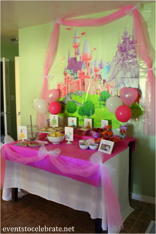 Disney Princess Birthday Decoration Ideas Party Food Decorations