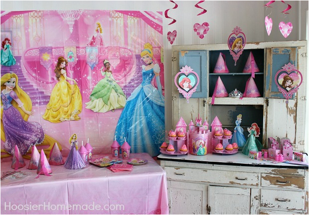 Disney Princess Birthday Party Ideas Decorations Cupcakes And Hoosier Homemade