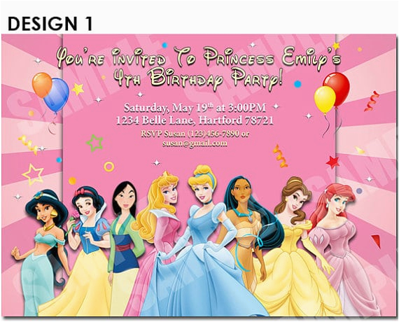 photo regarding Disney Princess Birthday Invitations Free Printable called Disney Princess Birthday Get together Invites Totally free Printables