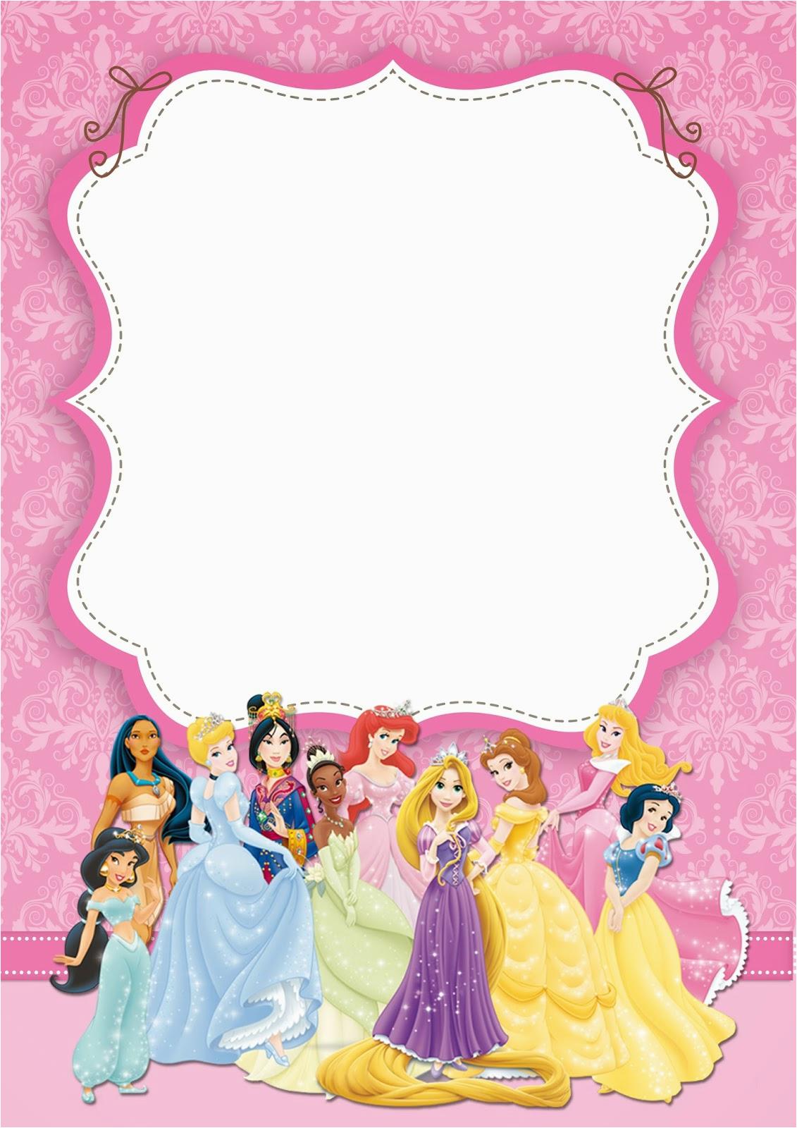 Disney Princess Birthday Party Invitations Free Printables Free