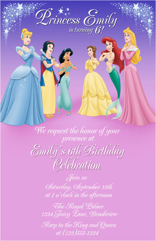 Disney Princess Birthday Party Invitations Free Printables Personalized Printable Cmartistry