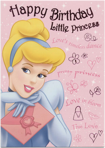 disney princess birthday cards