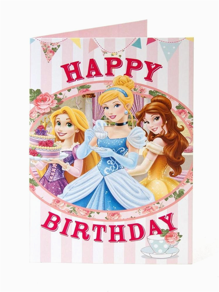 Disney Princess Happy Birthday Card Disney Princess Happy Birthday Card Age Girl Daughter