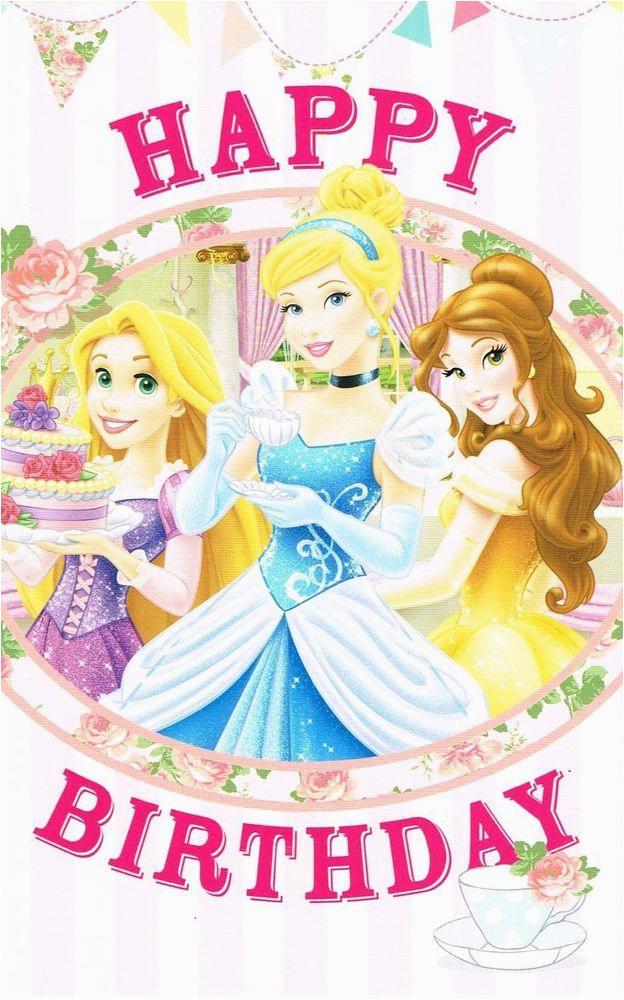 Disney Princess Happy Birthday Card New Gift Ebay