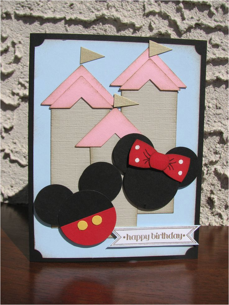 Disney themed Birthday Cards Kt Hom Designs Pin It Friday Favs Mickey and Minnie