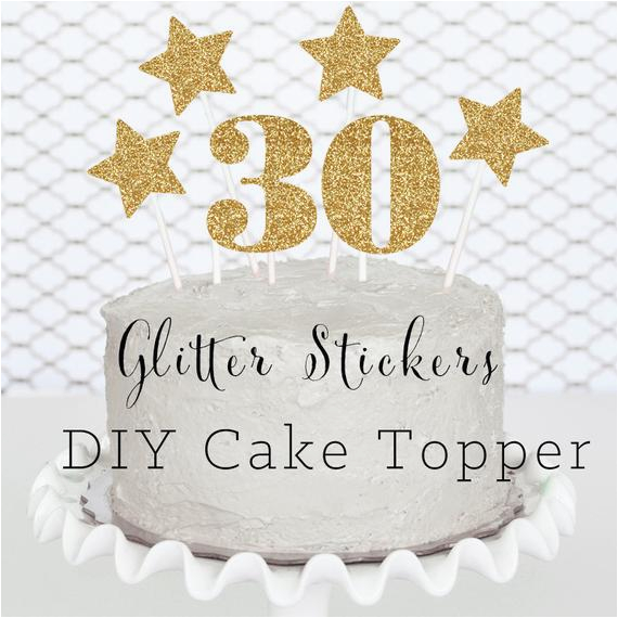 30 cake topper diy 30th birthday party