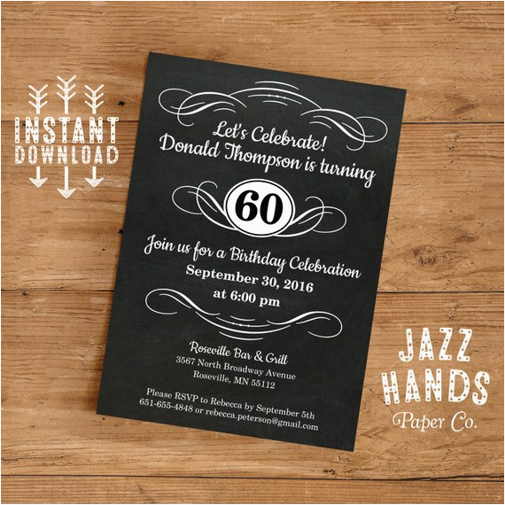 Diy 40th Birthday Invitations Vintage Adult Invitation Template Printable