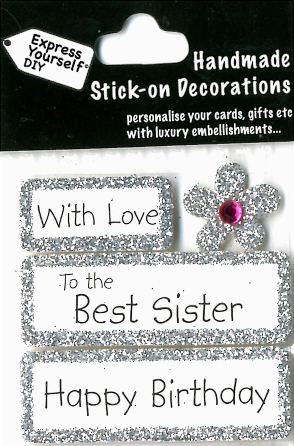 Diy Birthday Cards for Sister Happy Birthday Best Sister Diy Greeting Card toppers