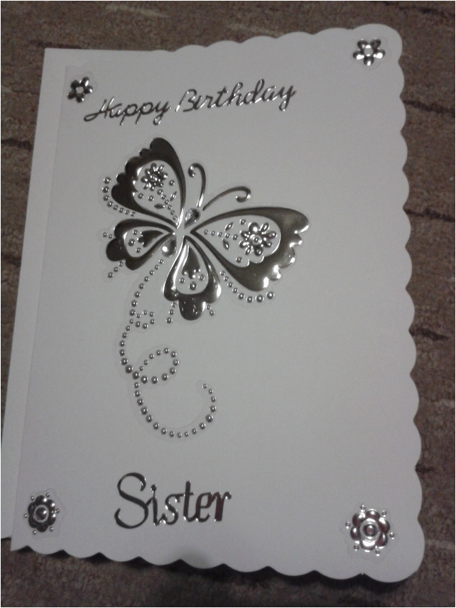 homemade sister birthday card folksy