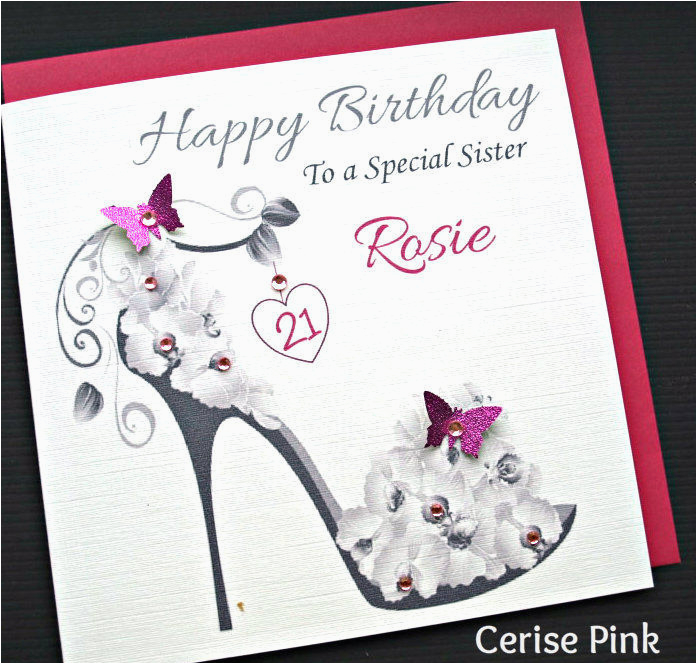 personalised handmade birthday card 18th 21st 30 40