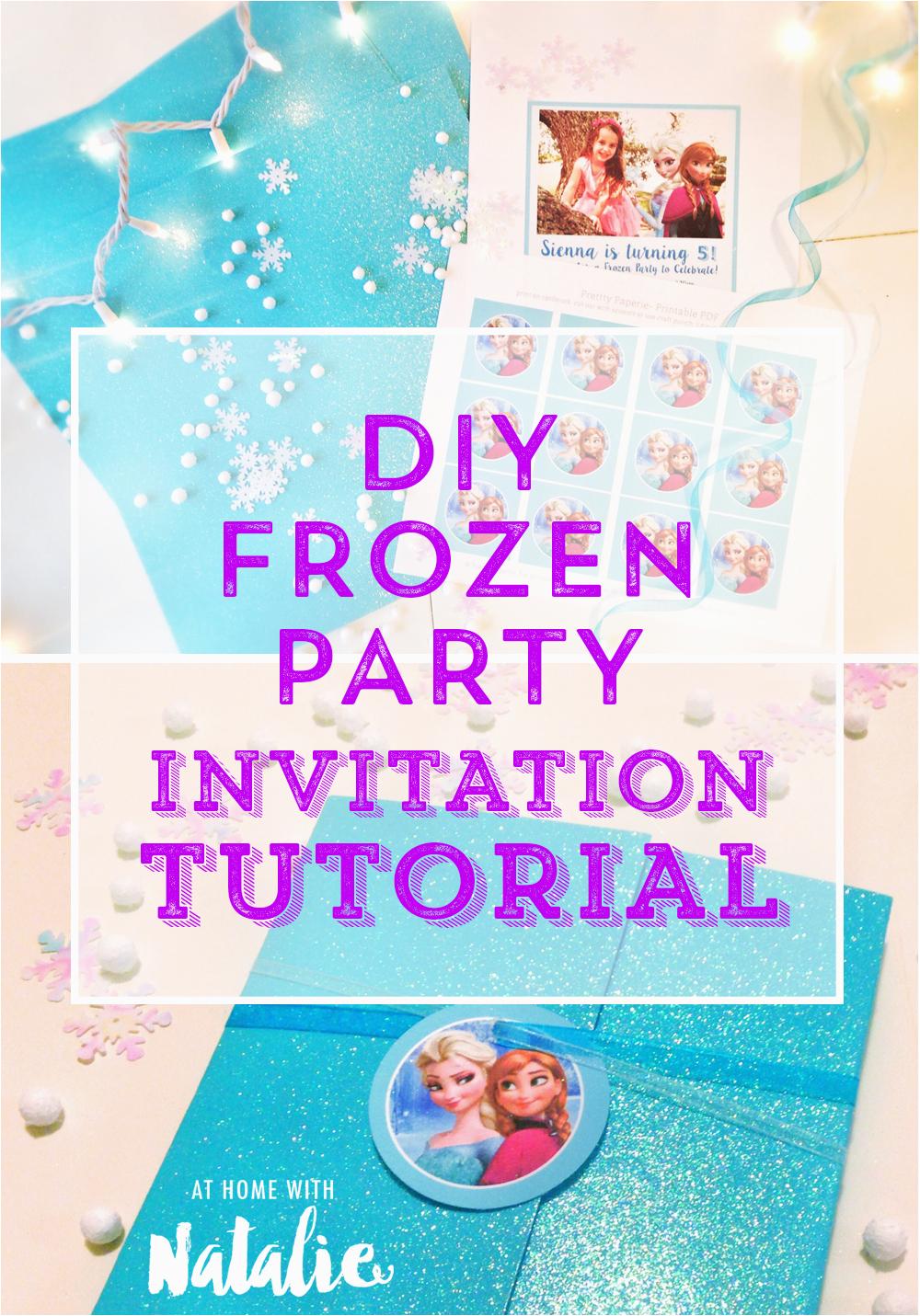 Diy Birthday Invitations Online Free Homemade Frozen Invitation Librarry