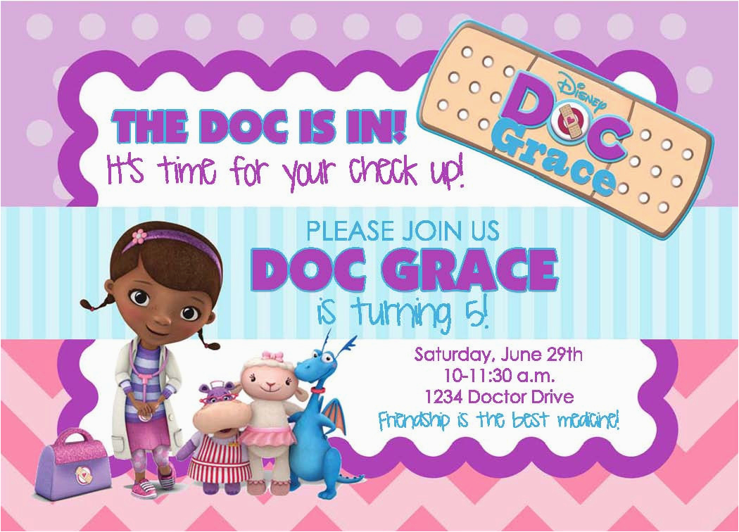 doc mcstuffins birthday party invitation