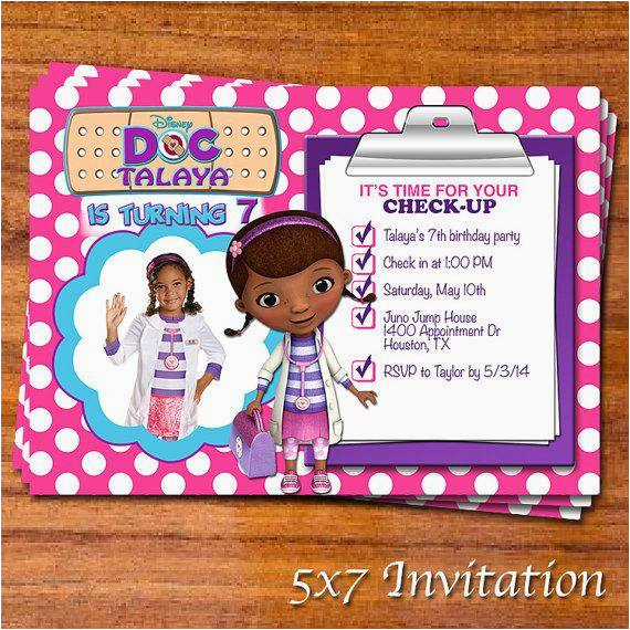 Doc Mcstuffins Printable Birthday Invitations Party A Cake