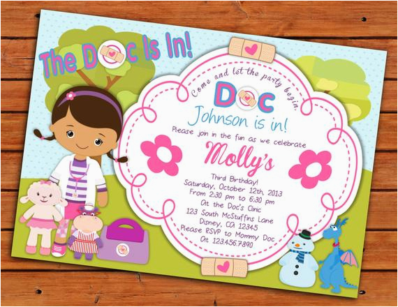 photograph regarding Doc Mcstuffins Printable Invitations known as Document Mcstuffins Printable Birthday Invites Solutions Identical