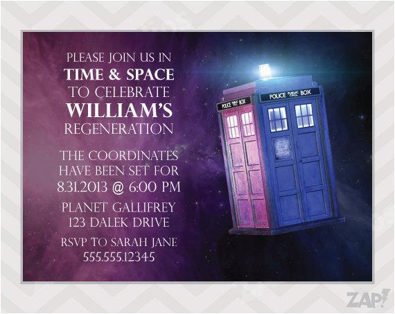 tardis invitation template
