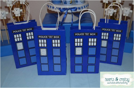 doctor who party favor gift bag tardis