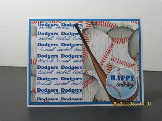la dodgers baseball birthday card for