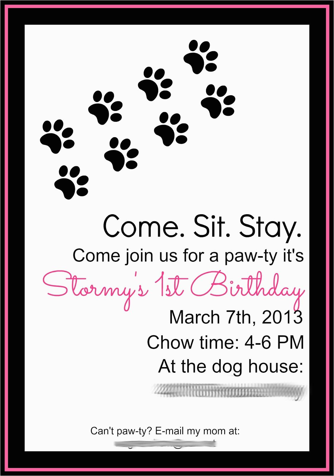 Dog Birthday Invites Keeping My Cents Dog Birthday