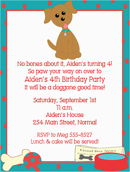 Dog Birthday Party Invitation Templates Invitations Ideas Bagvania Free Printable