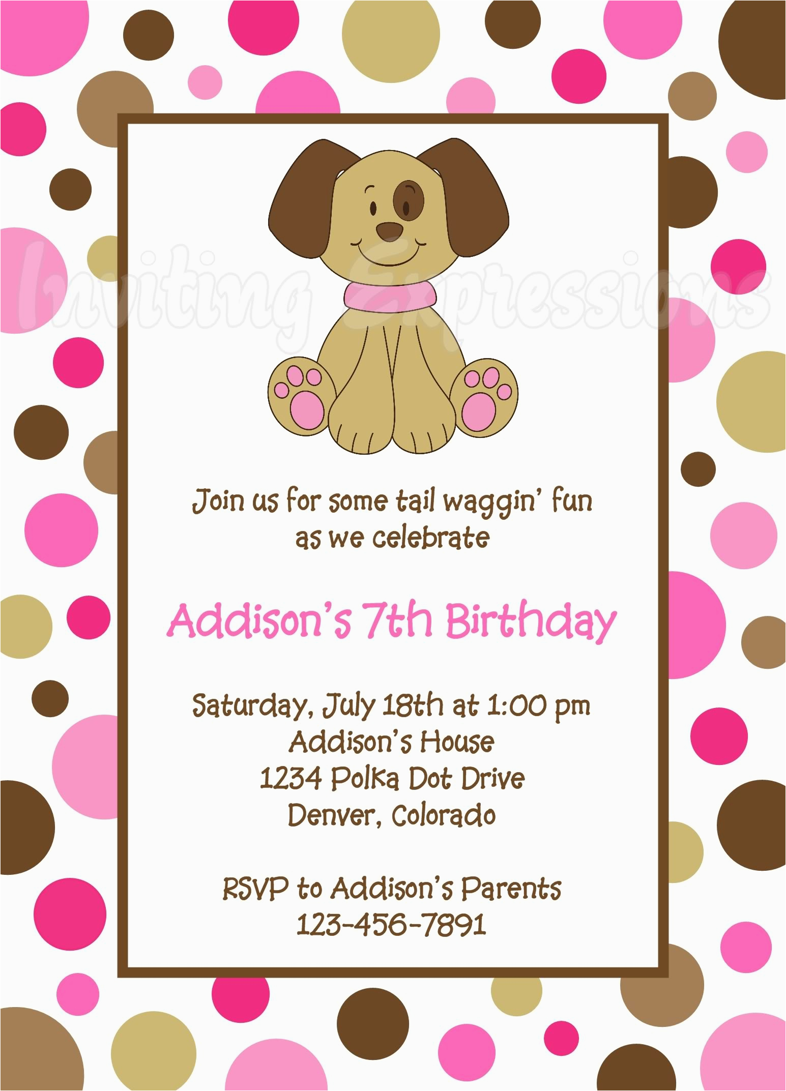 Dog Themed Birthday Party Invitations Invites Awesome 10 Puppy