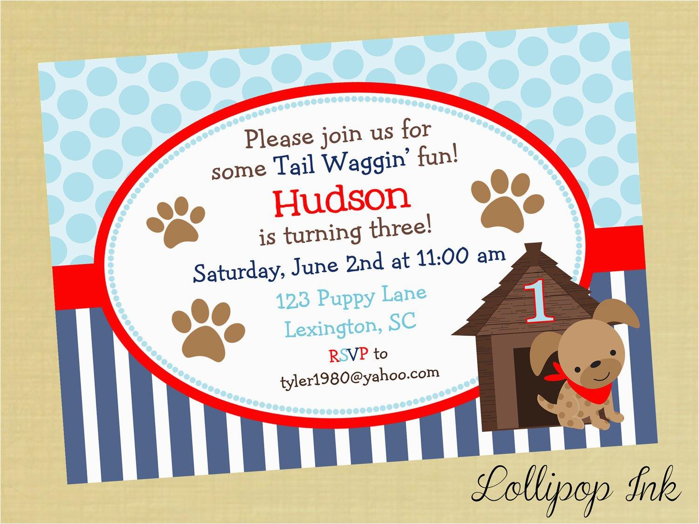 puppy dog birthday invitations best party ideas
