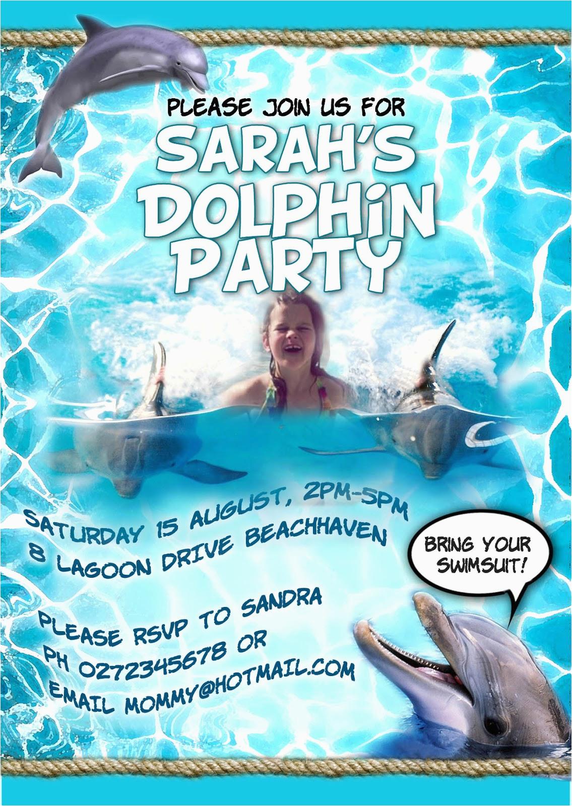 dolphin party invitation new
