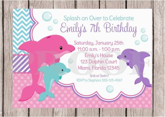 printable pink dolphin birthday party
