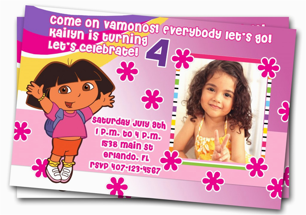 Dora Birthday Cards Free Printable Dora Explorer Birthday Invitations Ideas Bagvania Free