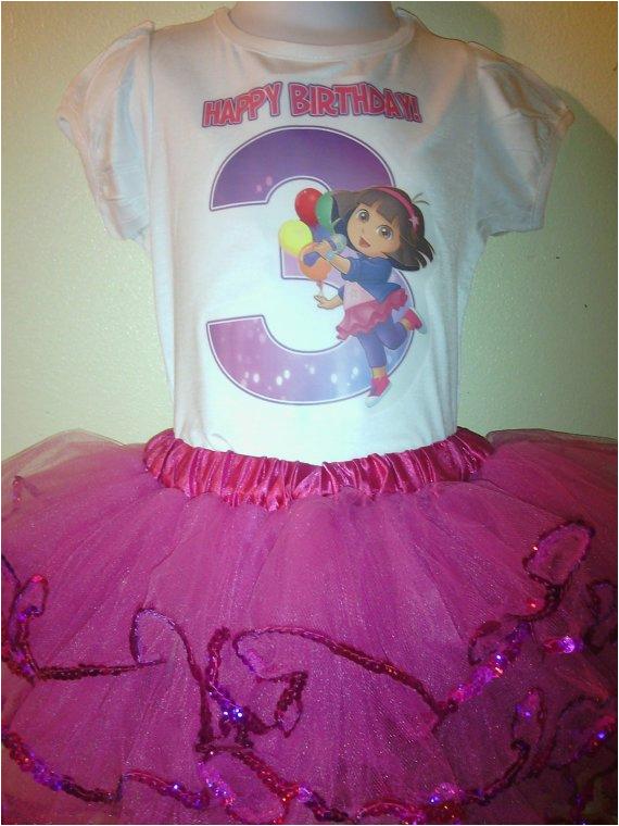 Dora Birthday Dresses Dora the Explorer Birthday Dress 2pc Tutu Outfit