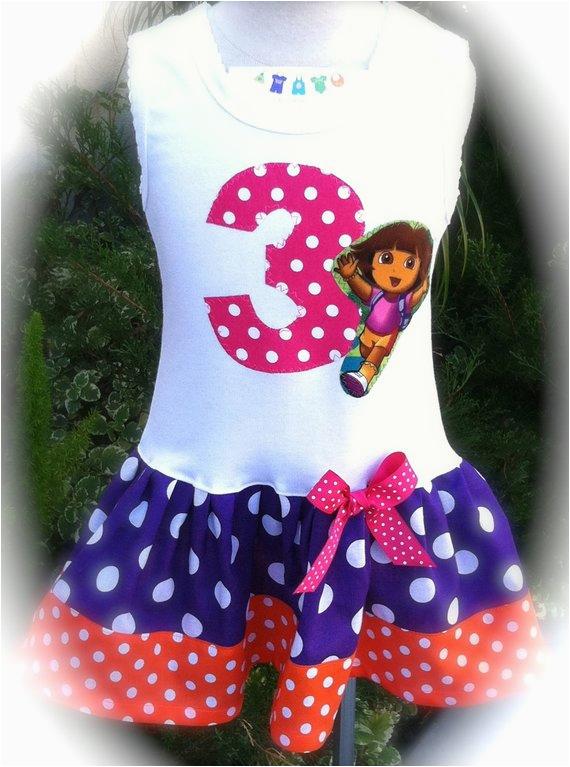 girls custom boutique dress dora