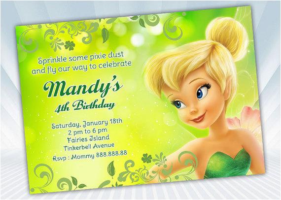 Free Tinkerbell Birthday Invitations Bagvania