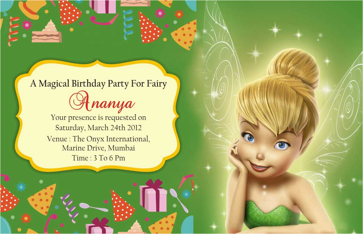 Download Tinkerbell Birthday Invitations Invitation Cards