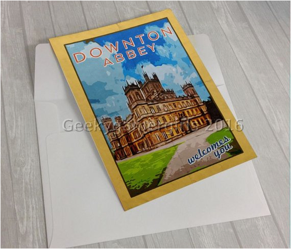 downton abbey greeting card 5x7 greeting card geek