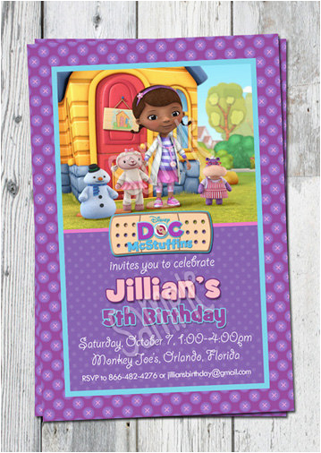 photo about Doc Mcstuffins Printable Invitations called Dr Mcstuffins Birthday Invites Document Mcstuffins Invitation