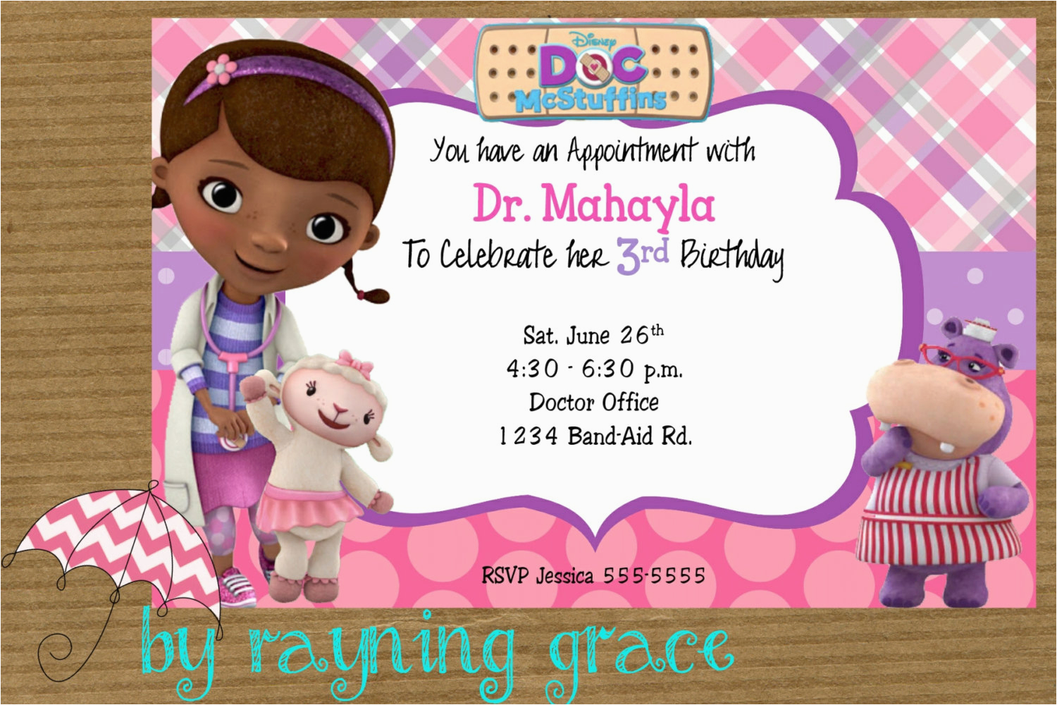 doc mcstuffins party invitations and comely invitations fitting aimed at giving pleasure to your party invitation templates 12