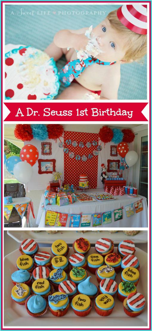 Dr Seuss 1st Birthday Party Decorations Dr Seuss Party theme Tiny oranges Oc Mom Blog