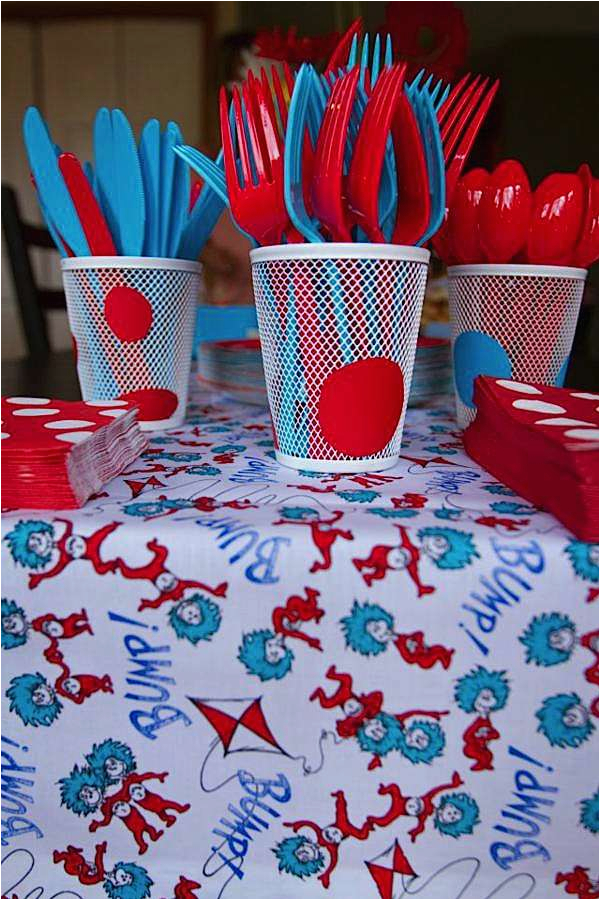 Dr Seuss 1st Birthday Party Decorations Kara 39 S Ideas Boy Girl Cat