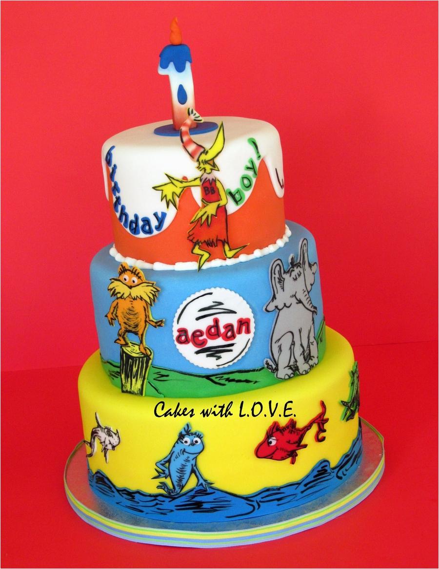 Dr Seuss Birthday Cake Decorations Dr Seuss Cake Cakecentral Com