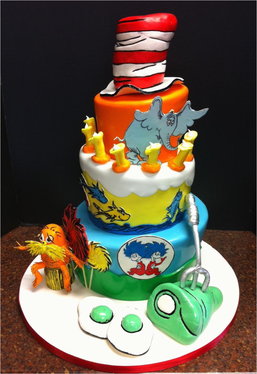 dr seuss first birthday cake