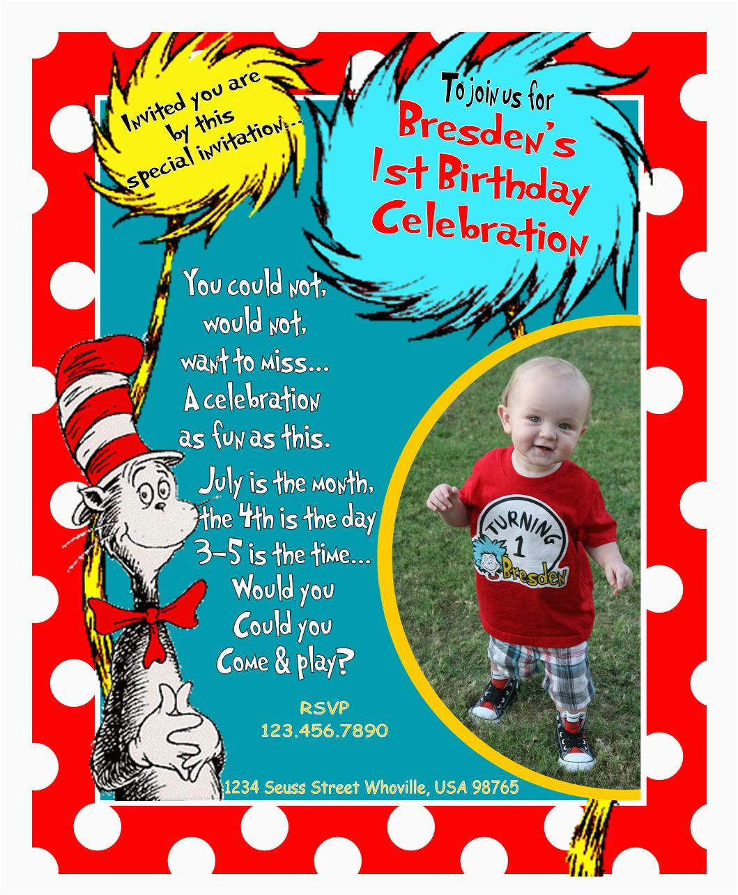 our dr seuss 1st birthday party