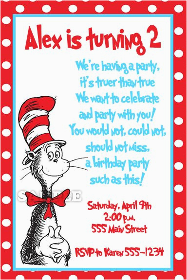 Dr Suess Birthday Invitations Dr Seuss Birthday Quotes Quotesgram
